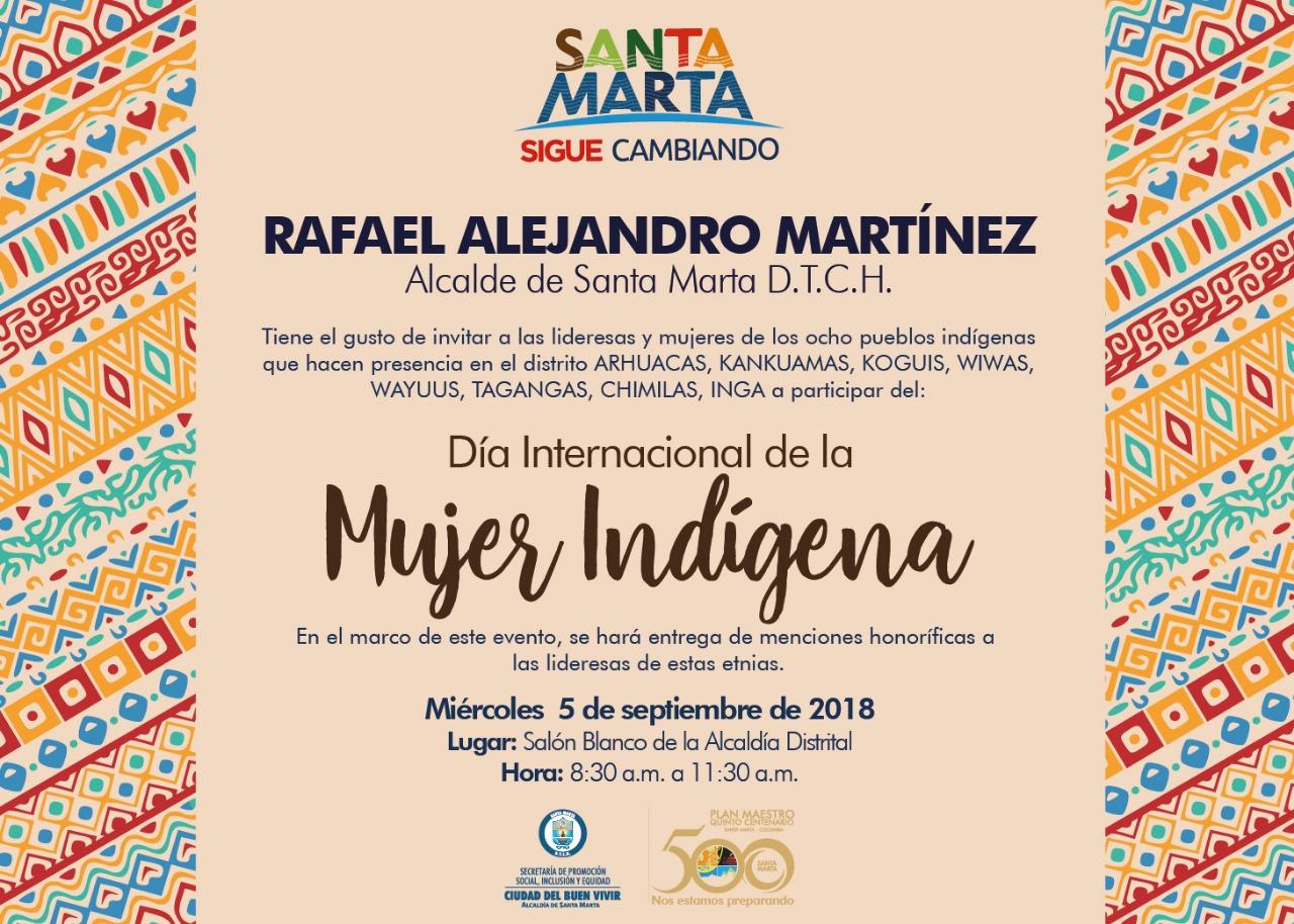 Tarjeta De Invitación Día Internacional De La Mujer Indígena